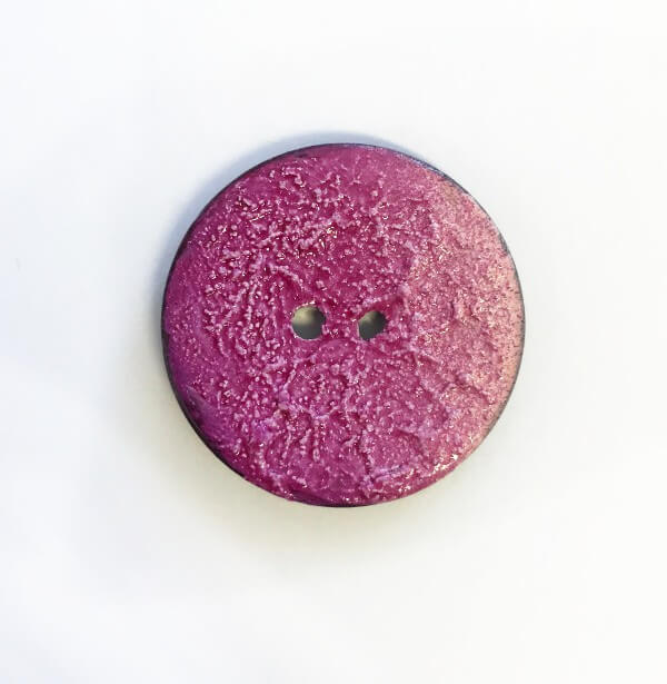 Ombré Pink Textured Button 30mm Italian Design
