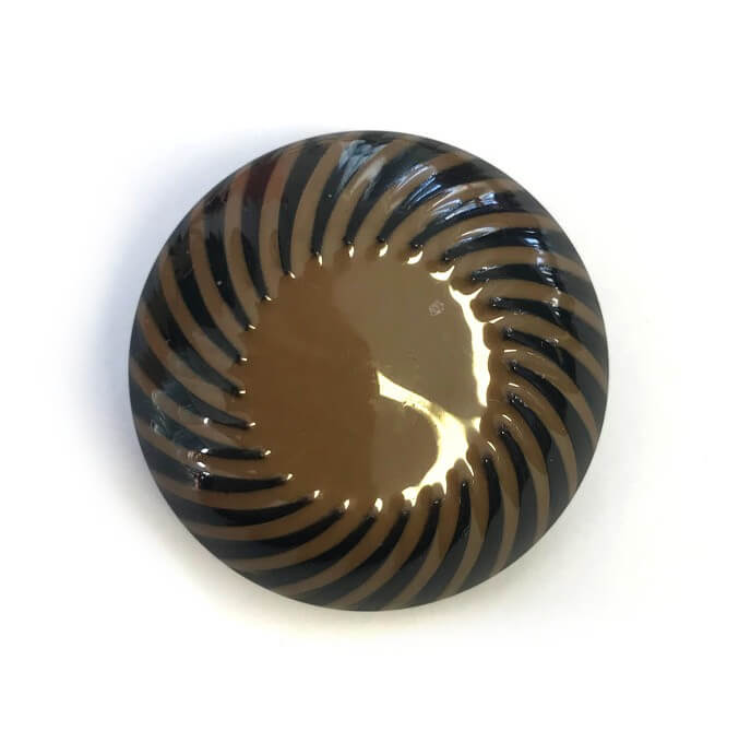 Optical Swirl Line Design Button 32mm Italian Design