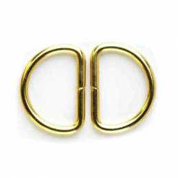 25mm Pair of D Rings Gold Buckle Vogue Star