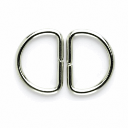 Vogue Star 25mm Pair of D Rings Silver Replacement Buckle Accessories