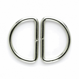 Vogue Star 30mm Pair of D Rings Silver Replacement Buckle Accessories
