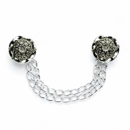 Vogue Star Cloak Chain Twist Flower Design Buttons 135mm Vintage