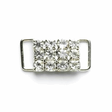 Vogue Star 10mm Diamante Slide Buckle Decoration Replacement Buckle