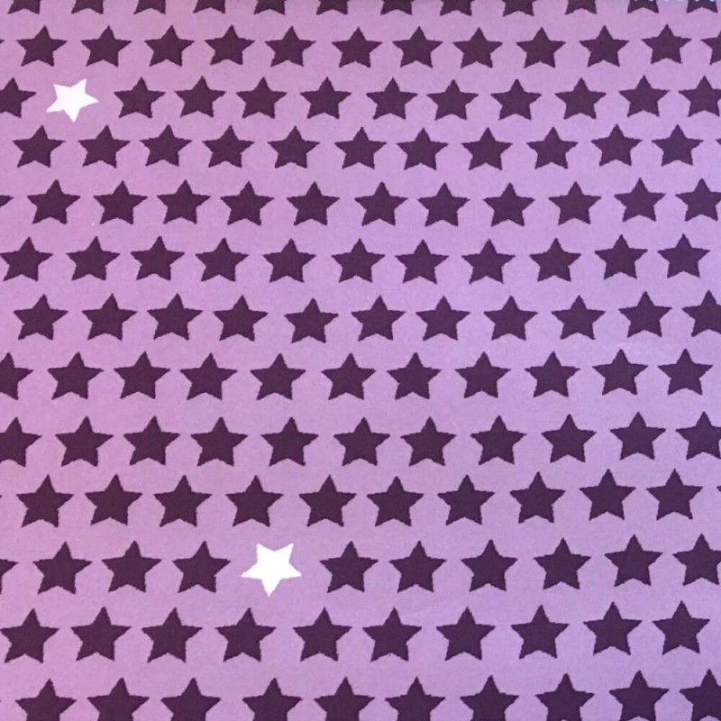 Damson 100% Polyester Soft Shell Micro Fleece Backed Stars Starry Sky Constellation