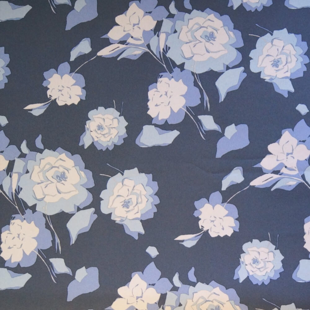 100% Polyester Soft Shell Micro Fleece Backed Floral Flower Roses