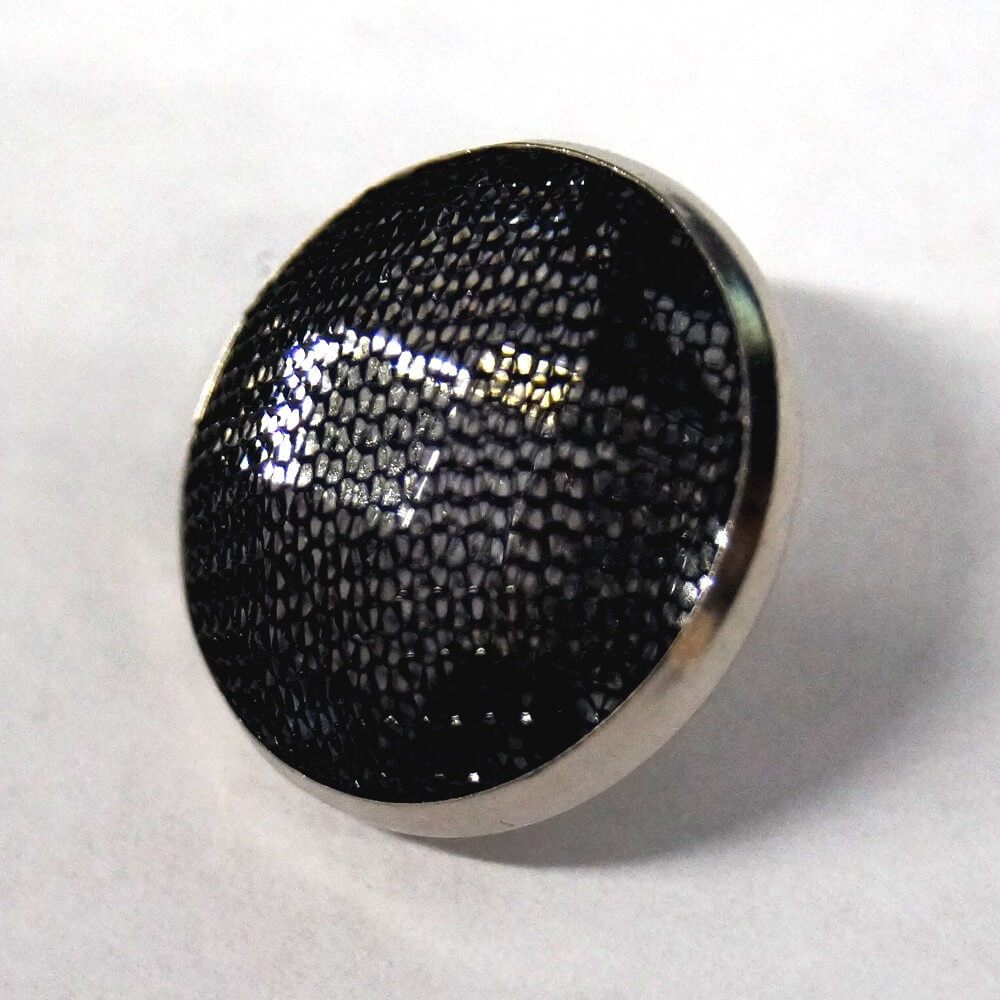 19mm Mesh Topped Gem Round Metal Button