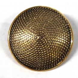 29mm Textured Shield Round Metal Button Antique Style