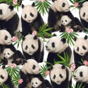 Tropical Pandas 100% Digital Cotton Fabric Little Johnny Range Dogs Unicorns Floral 145cm Wide