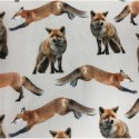 Brown Foxes 100% Digital Cotton Fabric Little Johnny Range Dogs Unicorns Floral 145cm Wide