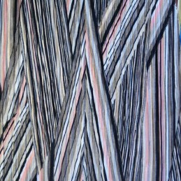 Pink 100% Polyester Pleated Printed Jersey Diagonal Zig Zag Festival Aztec Funky
