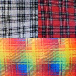 Super Soft Cuddle Fleece Tartan Plaid Check Blanket 147cm Wide