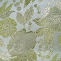 Polyester Metallic Brocade Fabric Embroidered Silky Satin Floral Flower Curtain