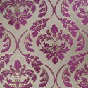 Phoenix Fuchsia Gold Polyester Metallic Brocade Fabric Embroidered Silky Satin Floral Flower Curtain