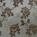 Wrangell White Beige Polyester Metallic Brocade Fabric Embroidered Silky Satin Floral Flower Curtain