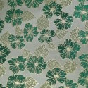 Nashville Green Gold Polyester Metallic Brocade Fabric Embroidered Silky Satin Floral Flower Curtain