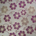 Oklahoma Fuchsia Gold Polyester Metallic Brocade Fabric Embroidered Silky Satin Floral Flower Curtain