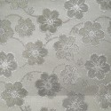 Oklahoma White Grey Polyester Metallic Brocade Fabric Embroidered Silky Satin Floral Flower Curtain