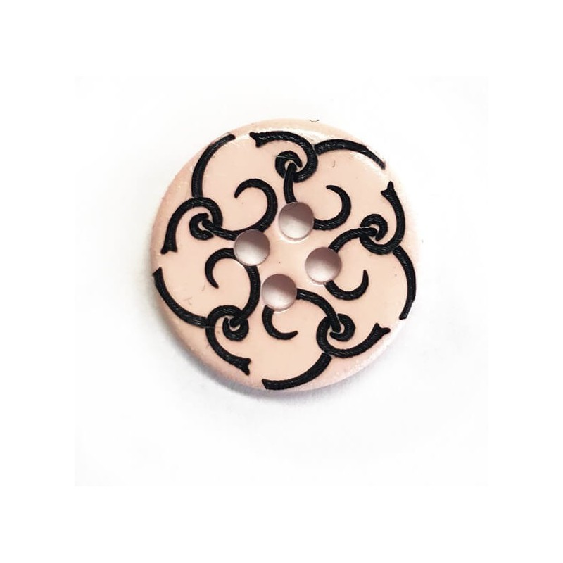 Large Pink Flower Button 28mm Italian Design
