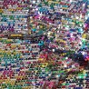 100% Polyester 5mm Sequins Fabric Sheer Mesh Sparkle Sewn Dance Dress 145cm Wide