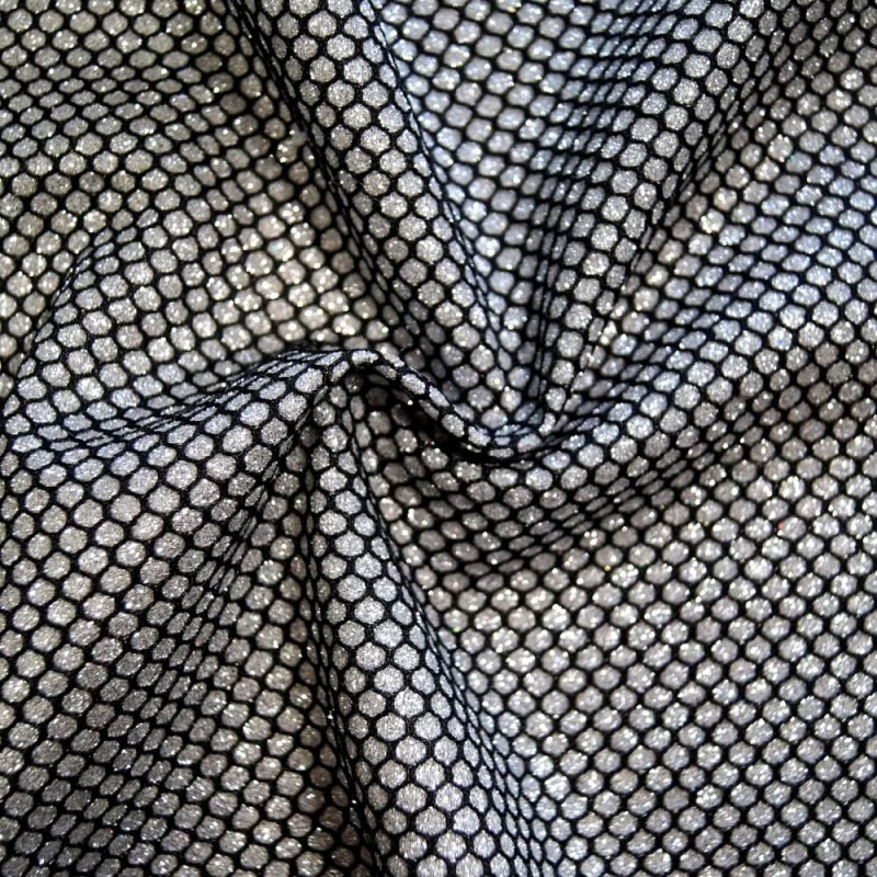 100% Polyester Honeycomb Knit Lurex Jersey Sparkle Crimped Glitter Dancewear