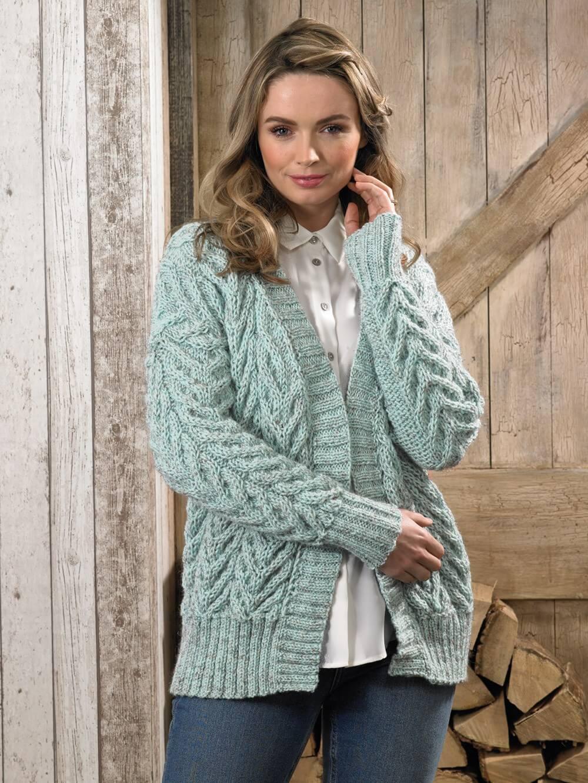 Knitting Pattern James C Brett JB624 Aran Cardigan