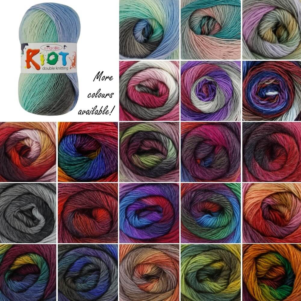 King Cole Riot DK Double Knitting Yarn Knit Craft Wool Crochet Reflections