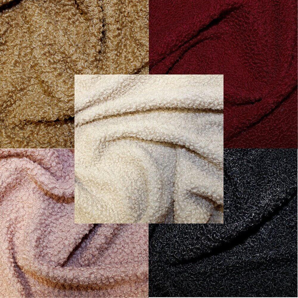 Wine Italian Sheep Skin Faux Fur Fabric 100% Polyester 150cm Wide