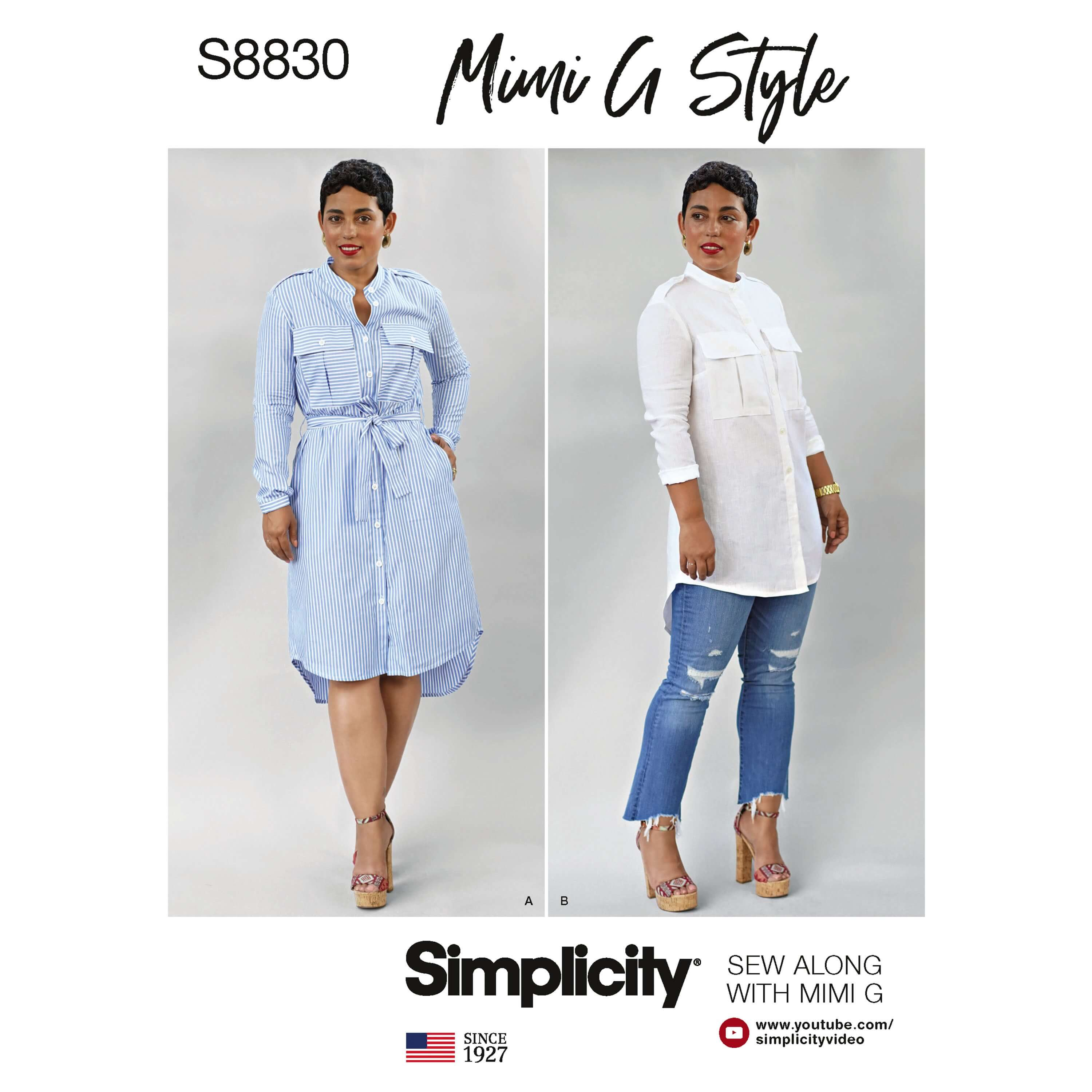 Simplicity Sewing Pattern 8830 Women's Petite Dress Shirt