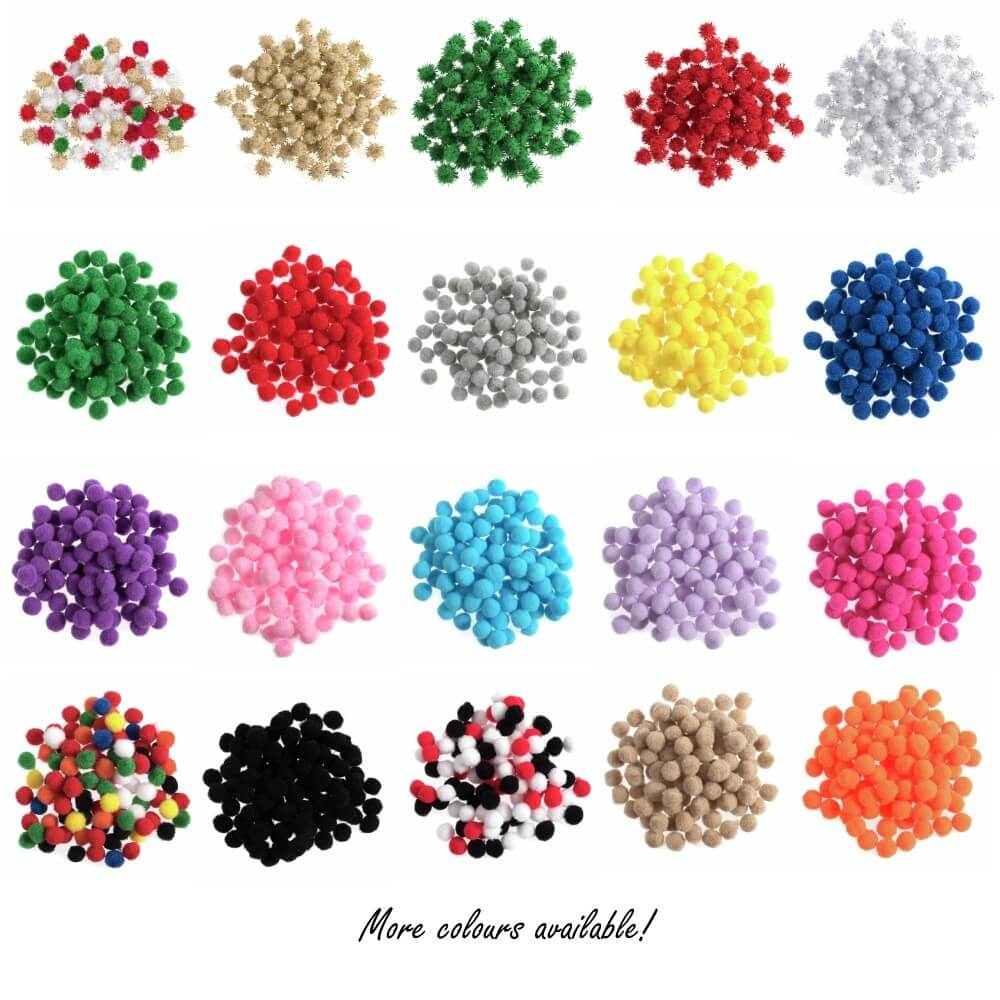 100 x 7mm Pom Poms Embellishments Craft Trimmings Accessories Trimits Pink