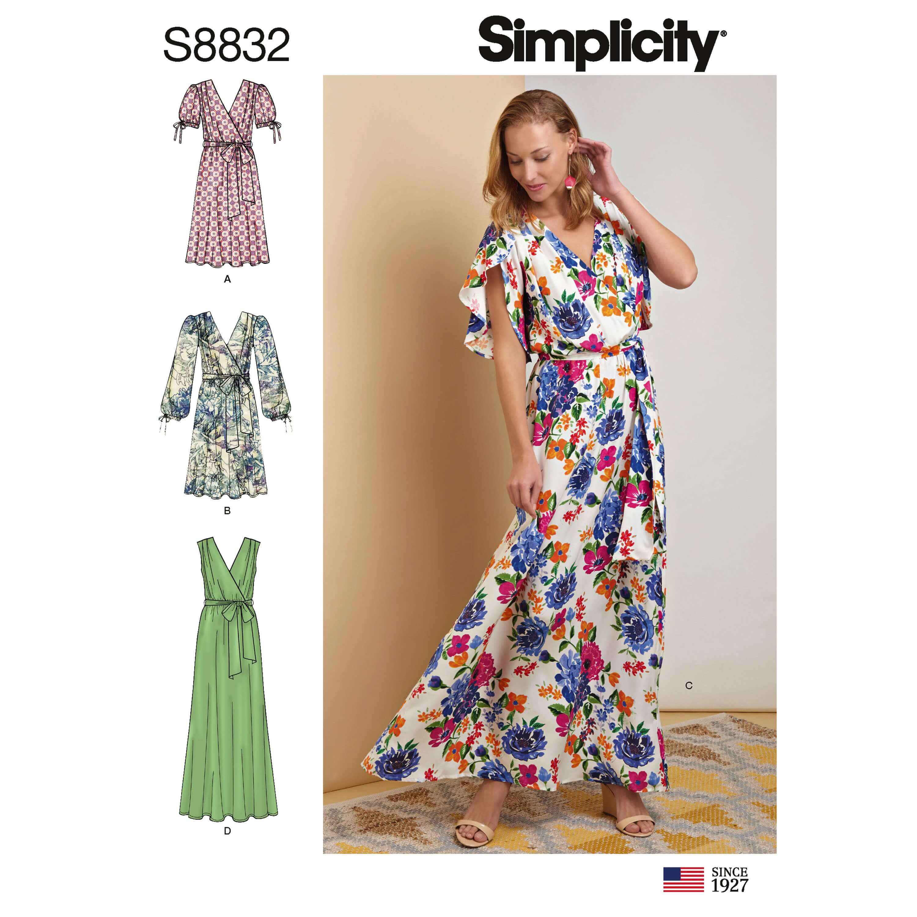 Simplicity Sewing Pattern 8832 Women's Pullover Dress with Tie Belt