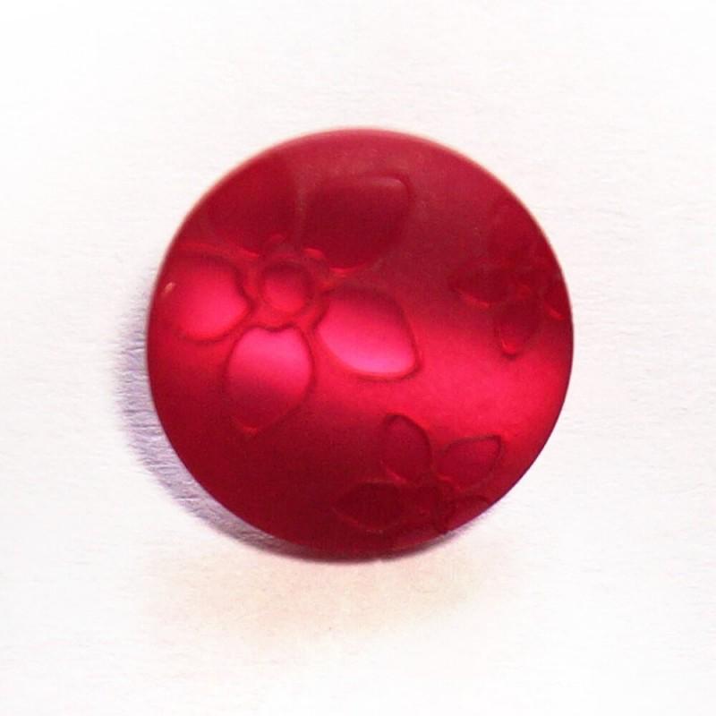 Pink Floral Flower Button Fastening 15mm Wide