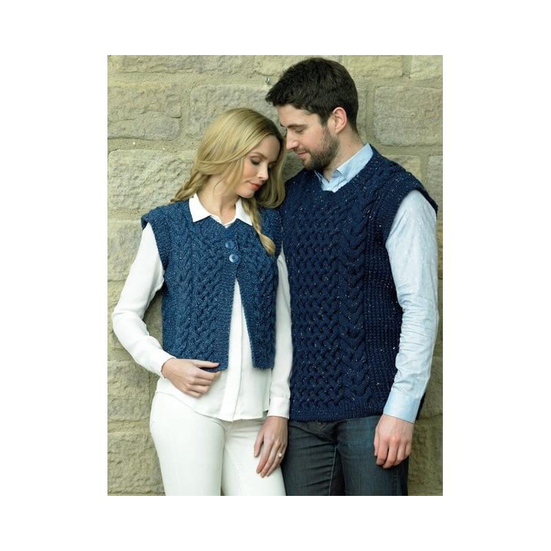 James C Brett Rustic Aran JB132 Knitting Pattern Ladies Cardigan