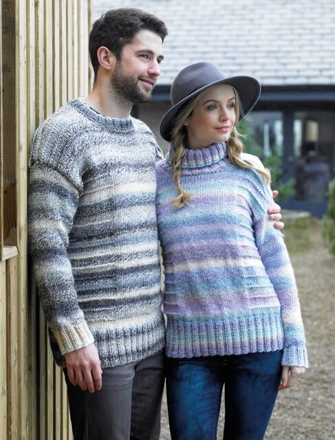 Knitting Pattern James C Brett JB369 Chunky Couples His & Hers Jumpers