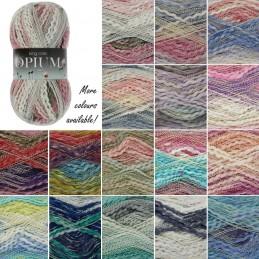 King Cole Opium Palette Chunky Knitting Yarn Knit Craft Wool Crochet 100g Ball