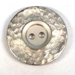 Round Textured Metal Sew Through Button Fastening 28mm Wide