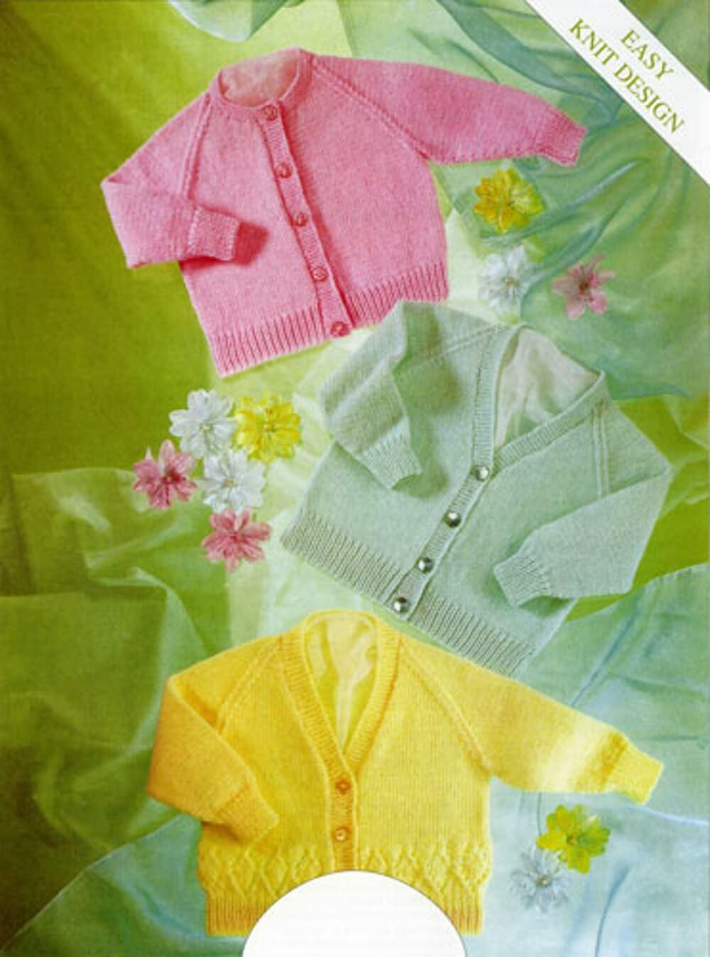 Knitting Pattern James C Brett UKHKA4 4 Ply Baby Cardigans