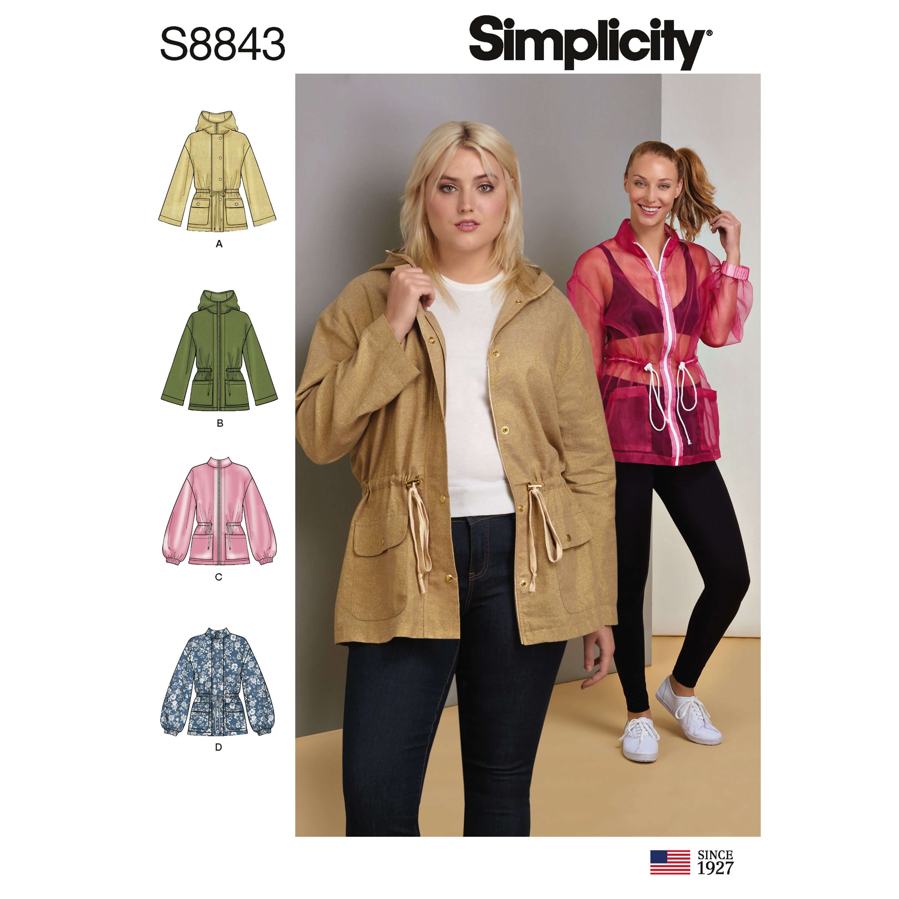 Simplicity Sewing Pattern 8843 Misses' Anorak Jacket
