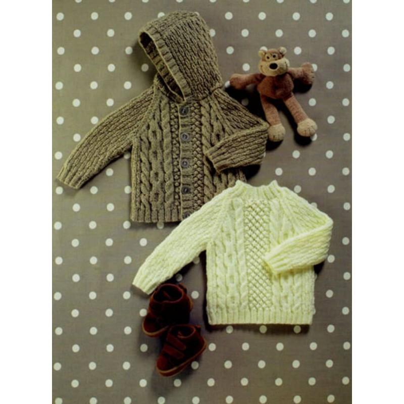 Double Knitting Pattern Baby Kids Lace Cardigans /& Jumper James Brett DK JB509