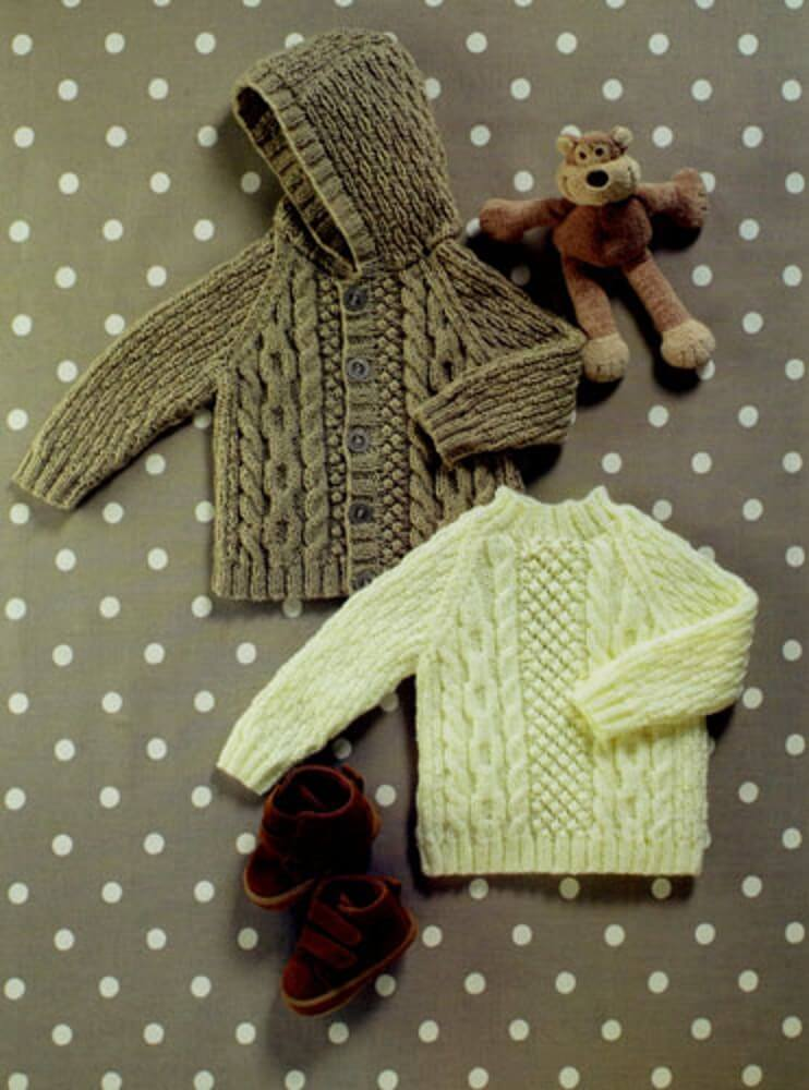 Knitting Pattern James C Brett UKHKA56 DK Baby Cardigan & Jumper
