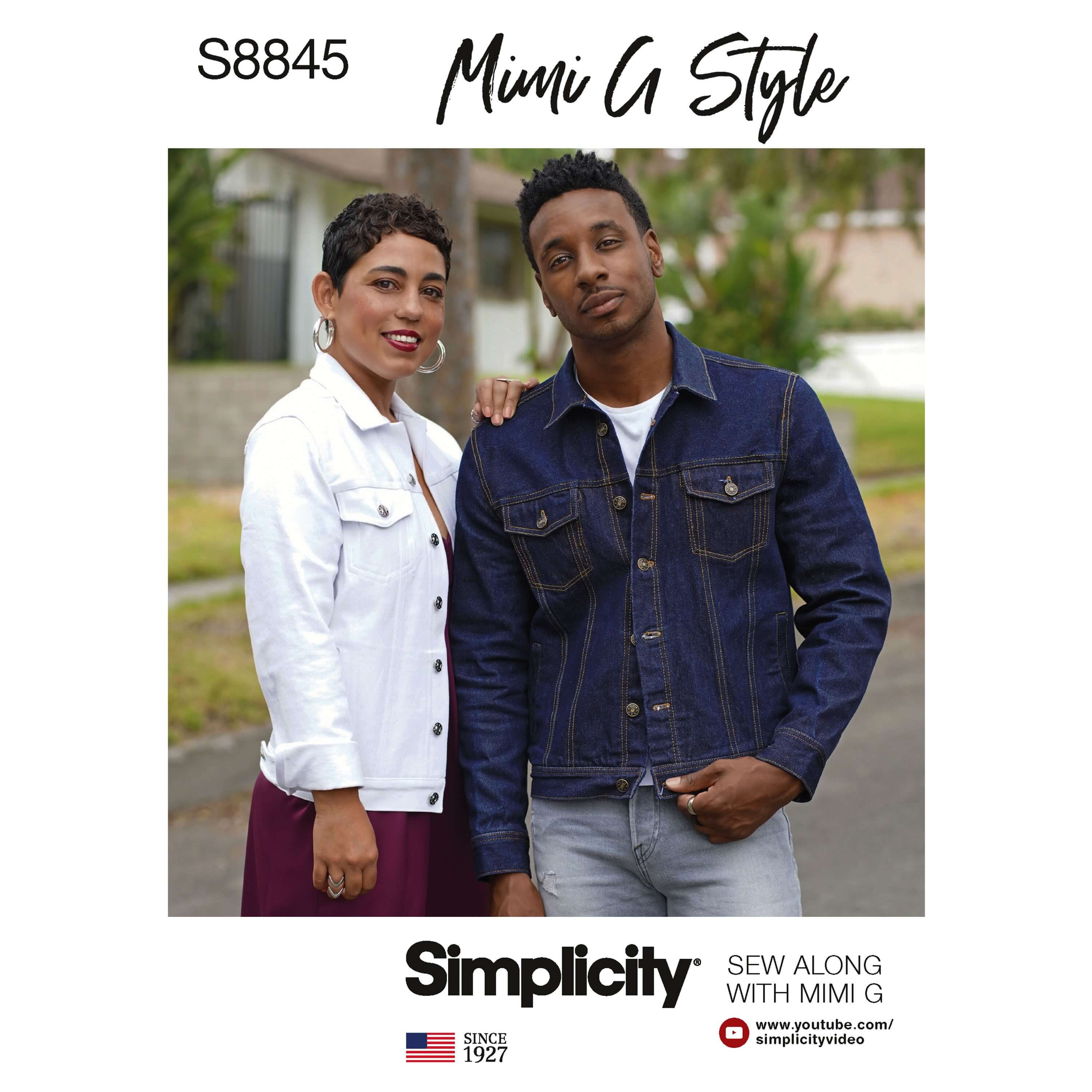 Simplicity Sewing Pattern 8845 Mimi G Jean Jacket