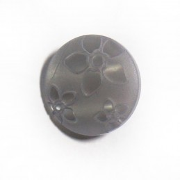 Silver Floral Flower Shank Back Button Fastening 15mm Wide