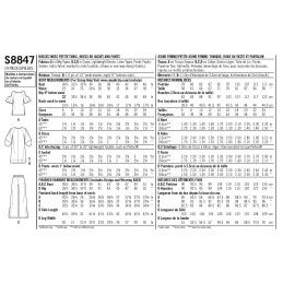 Simplicity Sewing Pattern 8847 Misses/ Miss Petite Easy To Sew Sportswear