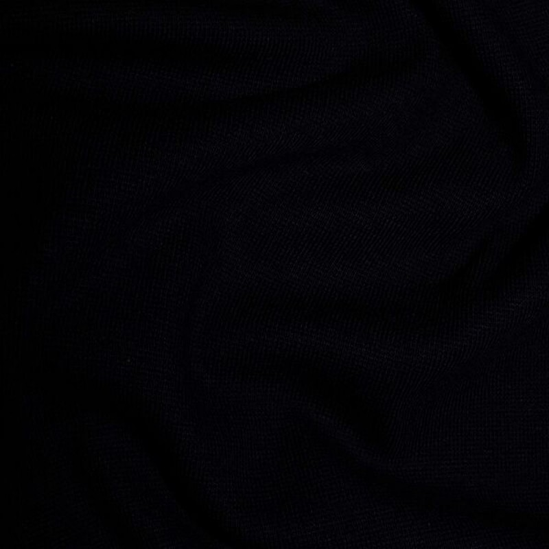 Black Plain Jersey Ribbed Cuffing Cotton Spandex Stretch Tubing Fabric