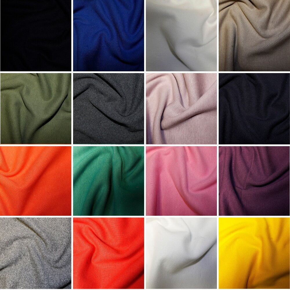 Yellow Plain Jersey Ribbed Cuffing Cotton Spandex Stretch Tubing Fabric