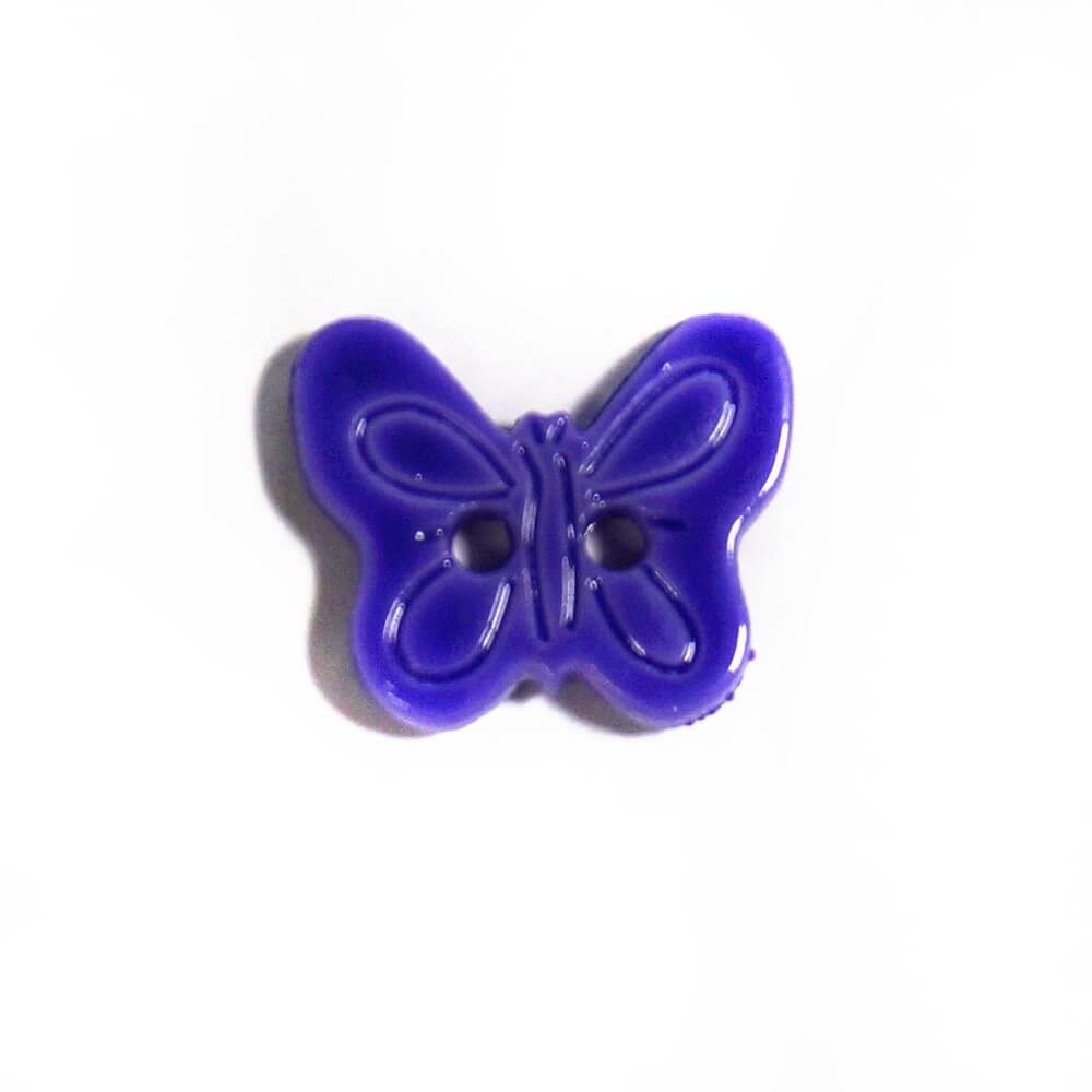 Butterfly Flat Back Button Fastening 15mm Wide