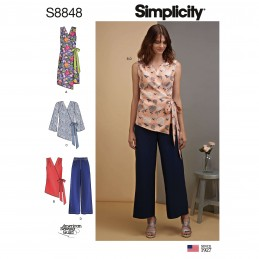 Simplicity Sewing Pattern 8848 Misses' Dress, Tops and Trousers