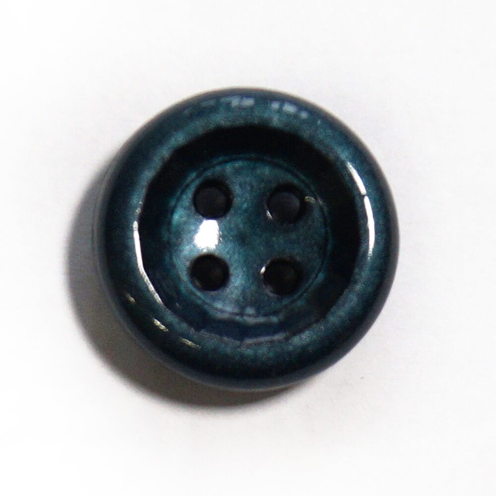 Green Shiny Dome Back Button Fastening 23mm Wide
