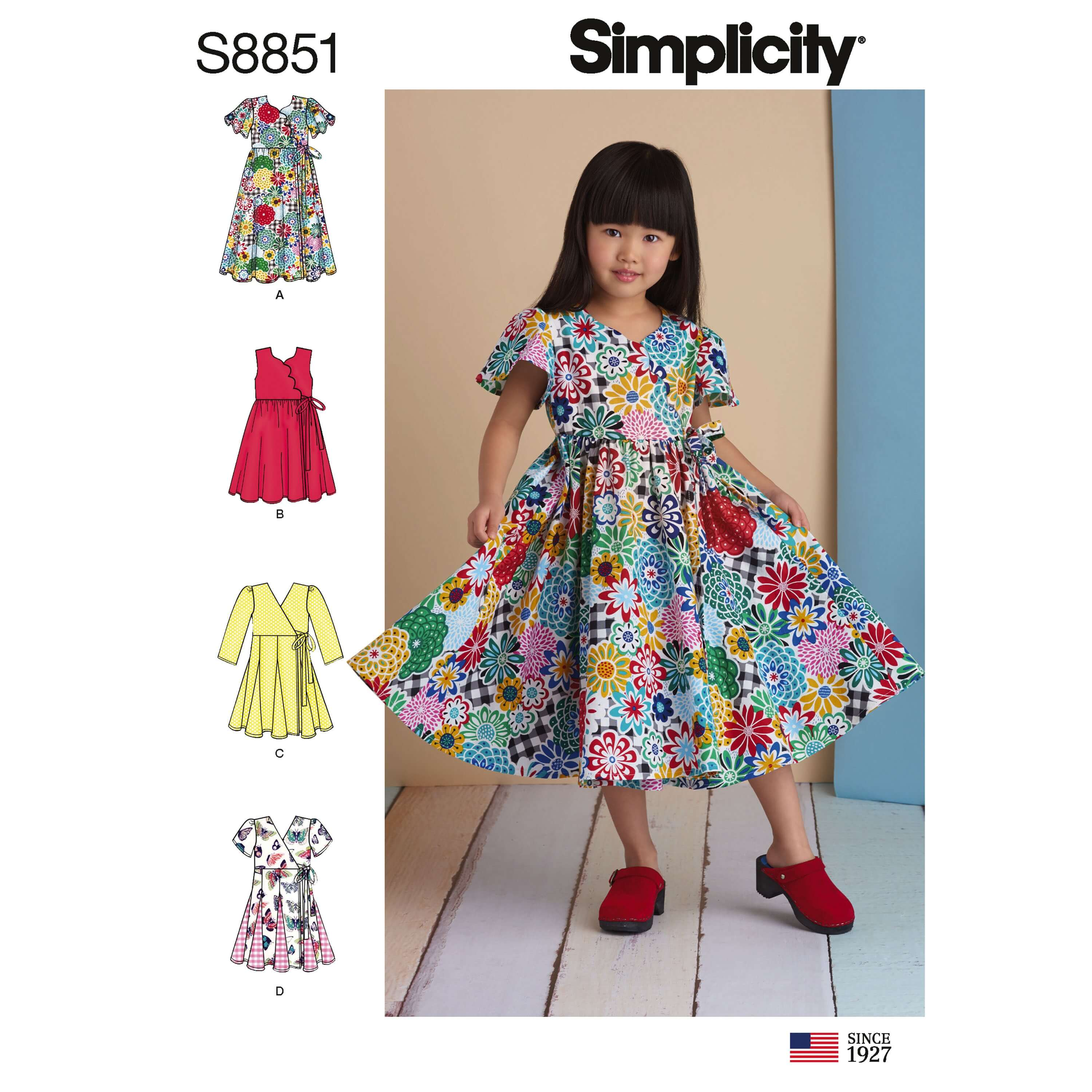 Simplicity Sewing Pattern 8851  Child's Dresses