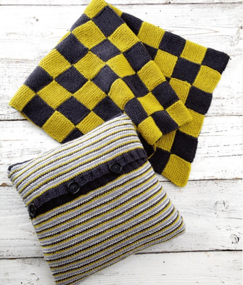 Knitting Pattern James C Brett UKHKA159 Aran Cushion Cases