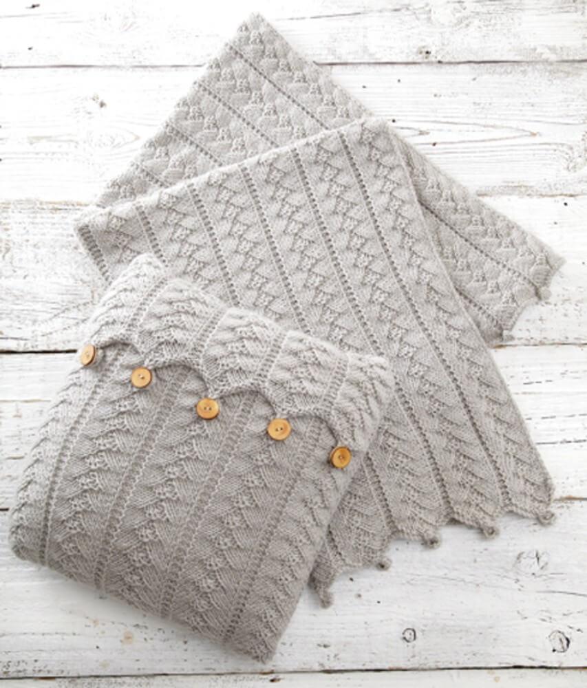 Knitting Pattern James C Brett UKHKA160 Aran Blanket & Sachel Bag